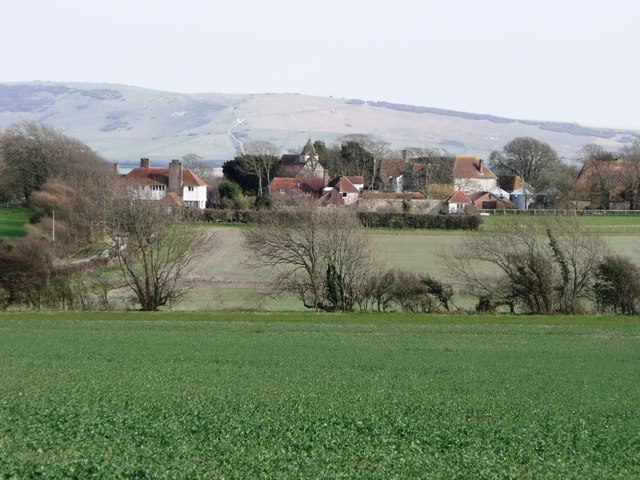Alciston from Bo-Peep Lane