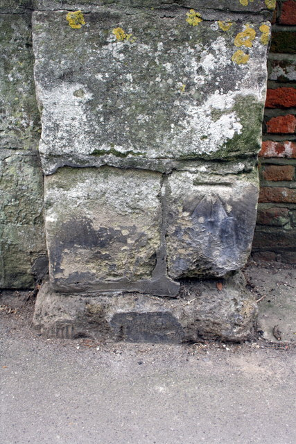 Benchmark on St Nicholas Road bridge