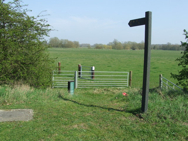 Footpath Sign And Gate