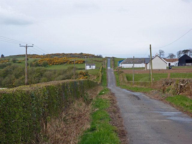Minor Road passing Laigh Borland Farm