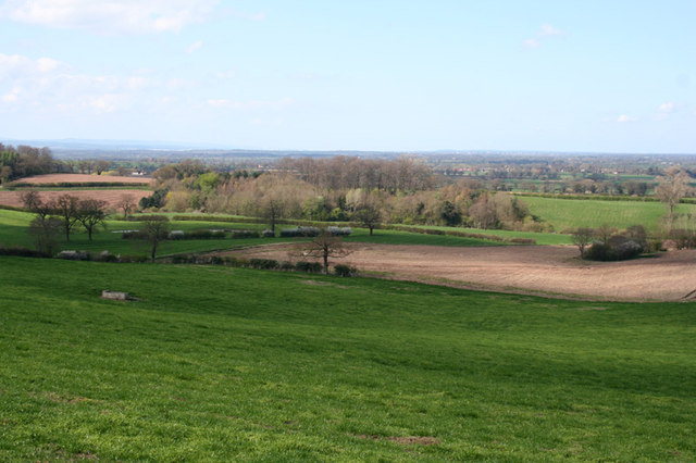 View from lower slopes of Burwardsley Hill