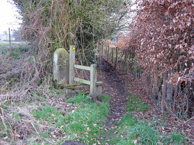 Footpath in Wornish Nook