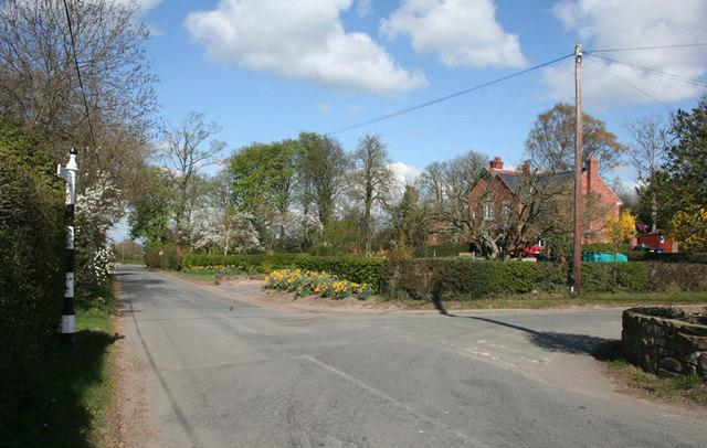 Burwardsley village in early spring