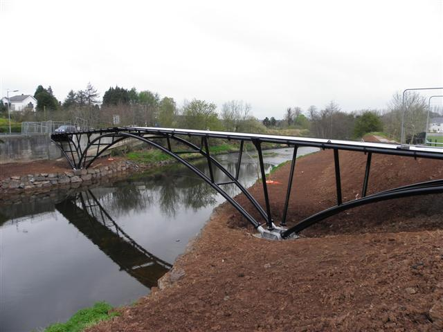 The new footbridge, Omagh