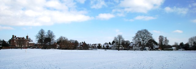 Matfield village green in snow