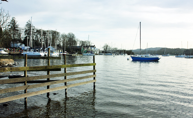 Landing stages at Ferry Nab, Bowness