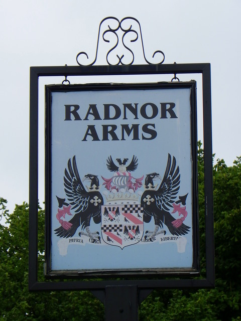 Sign for the Radnor Arms, Corston