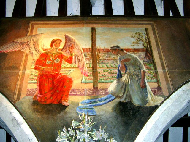Wall painting St. Michael and All Angels, Berwick , East Sussex