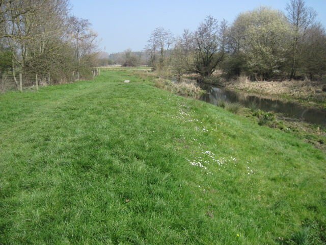 Meadows beside Itchen Way at Motorway Underpass