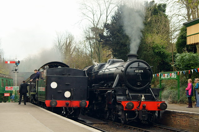 Locomotives at Alresford, Hampshire