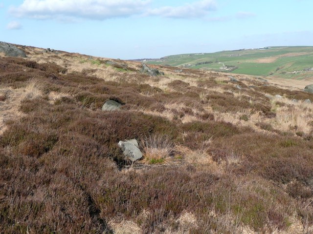 A rocky area on Turley Holes and Higher House Moor