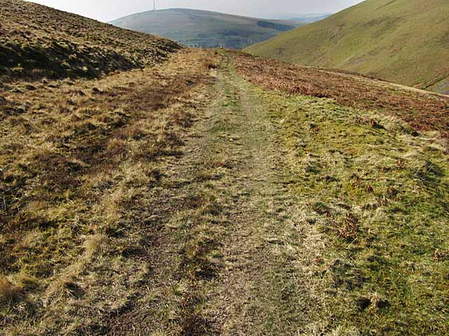 Course of Roman Road round Raggengill Hill