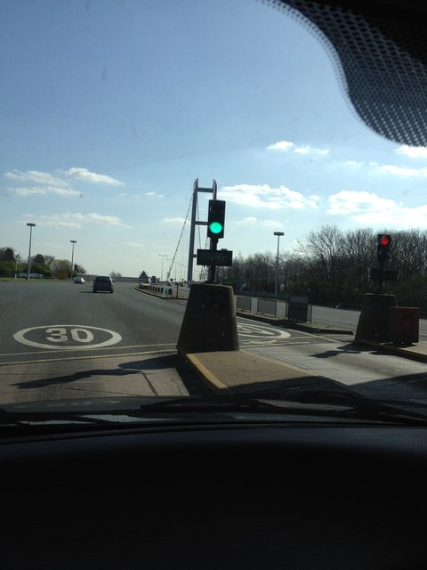 Humber bridge, toll area