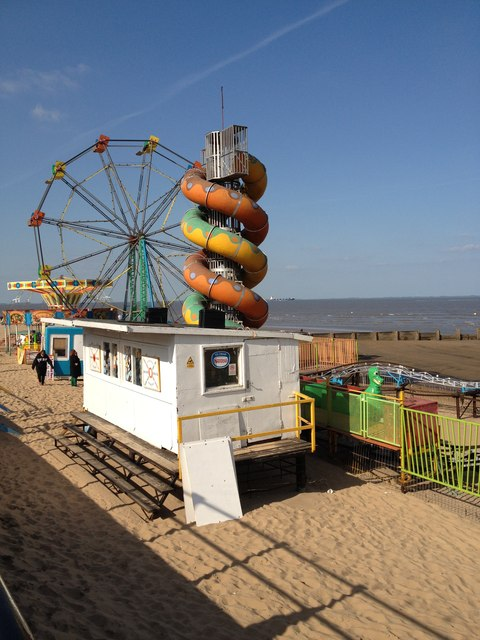 The fair on the beach, Cleethorpes