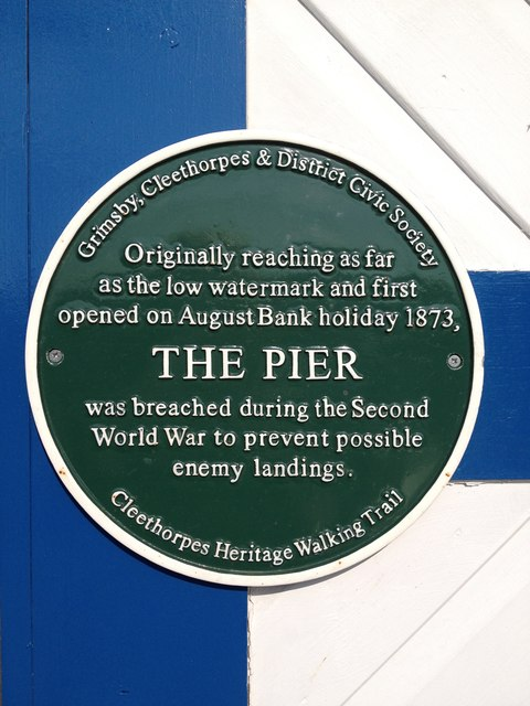 Information plaque, Cleethorpes pier