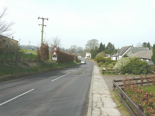 The A689 road past The Stable, Milton Mains Farm