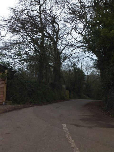Minor road running south from Coldharbour