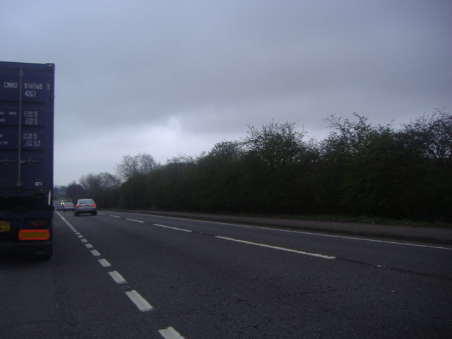 The A5 near Sheeplane