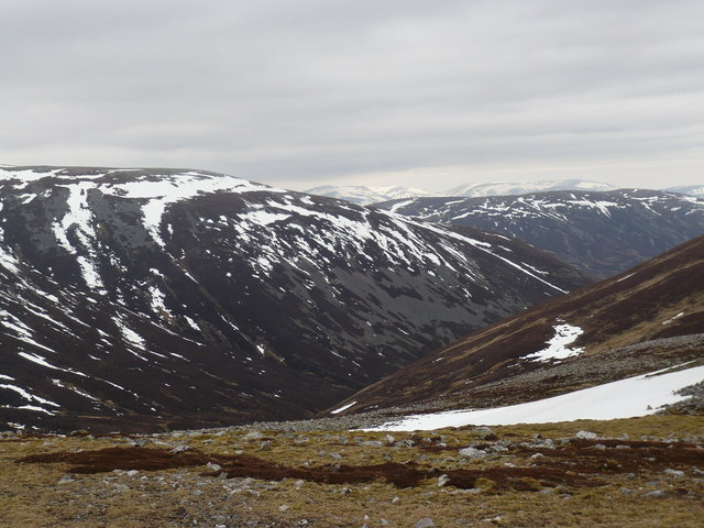 South-eastern slopes of Beinn Iutharn Mhòr