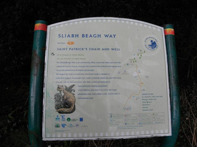 Information board, Sliabh Beagh Way