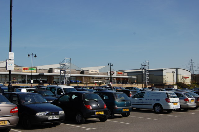 Car park and retail park, Freeport