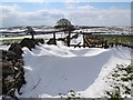 SK2076 : Eyam - Track to Tideswell Lane in April snow by Neil Theasby