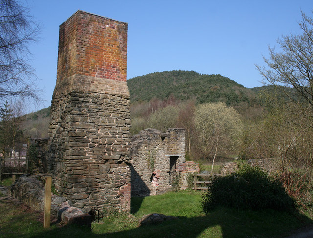 Crusher House with chimney, Snailbeach Lead Mine