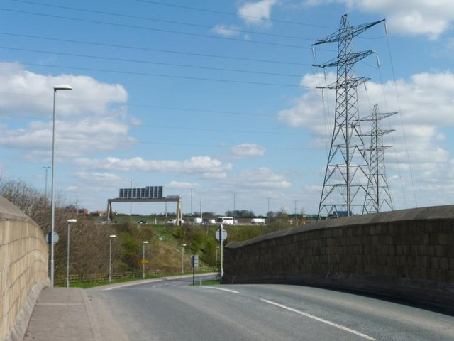 View from the railway bridge