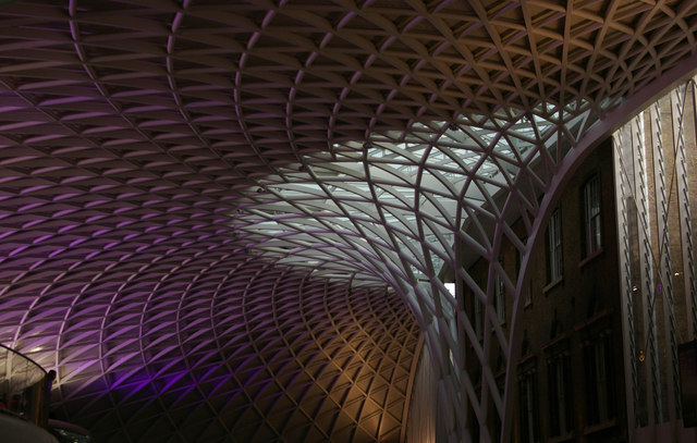 Roof detail, new western concourse, King's Cross Station