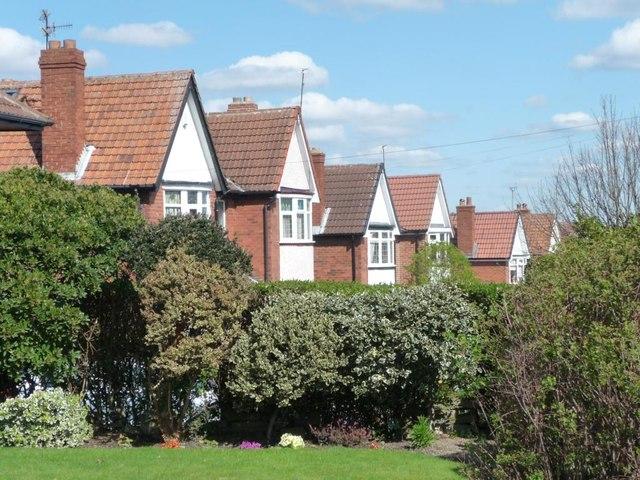 Semis on Common Lane, Ardsley Common