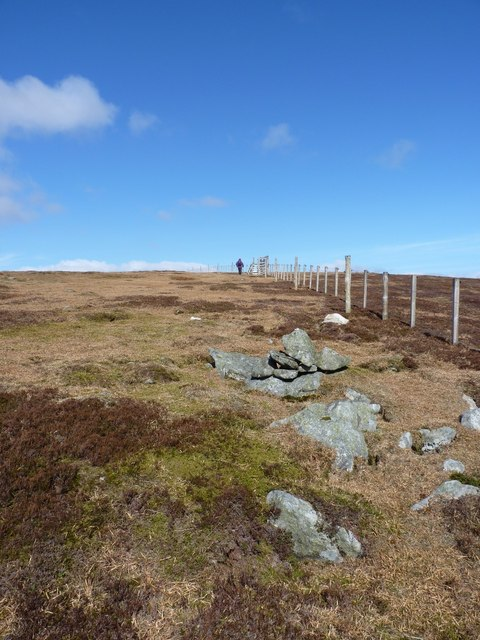 A small cairn below Cairn Trench