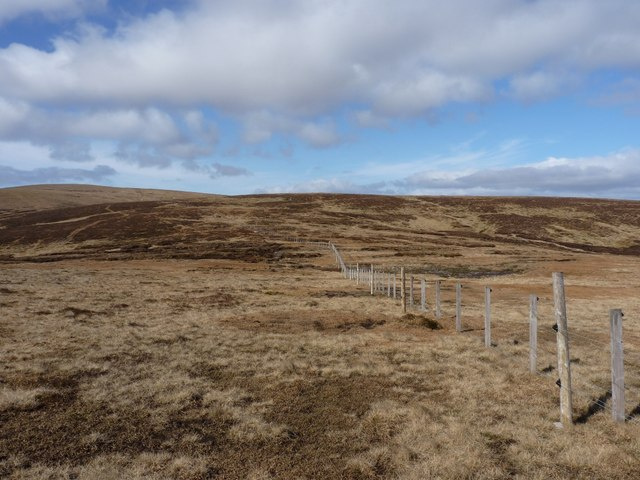 Fence heading for Black Shank and The Goet