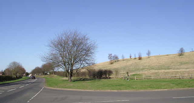 Hillside and A454 north-east of Bridgnorth, Shropshire