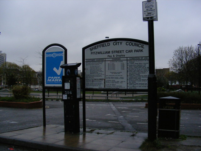 Fitzwilliam Street car park sign