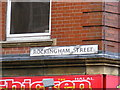 SK3487 : Rockingham Street sign by Adrian Cable