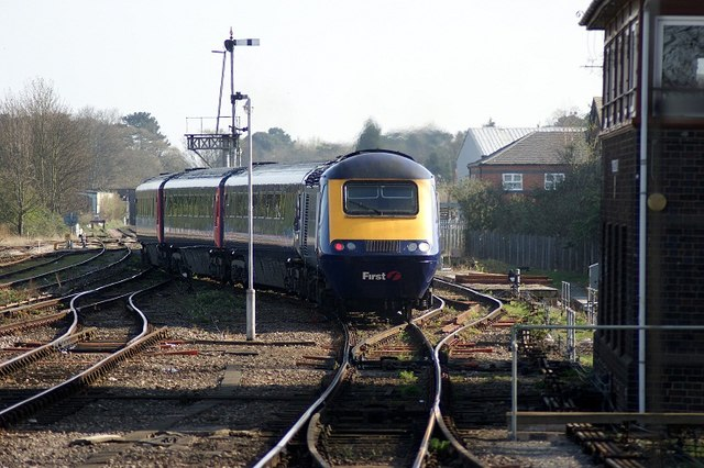 High Speed Train Leaving Worcester