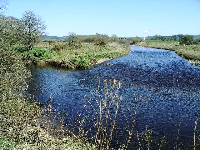 Confluence of the River Annan and the Kinnel Water