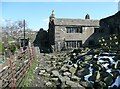 SE0023 : The rear of Bank Top farmhouse, Cragg Vale by Humphrey Bolton