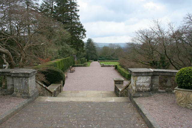 Terraced garden, Eaves Hall