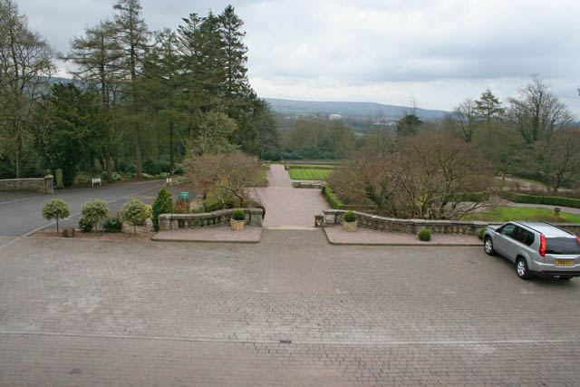 Gardens, Eaves Hall near Clitheroe