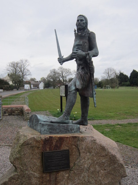 A statue to King Edward I at Burgh by Sands