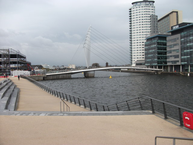 Footbridge at Media City