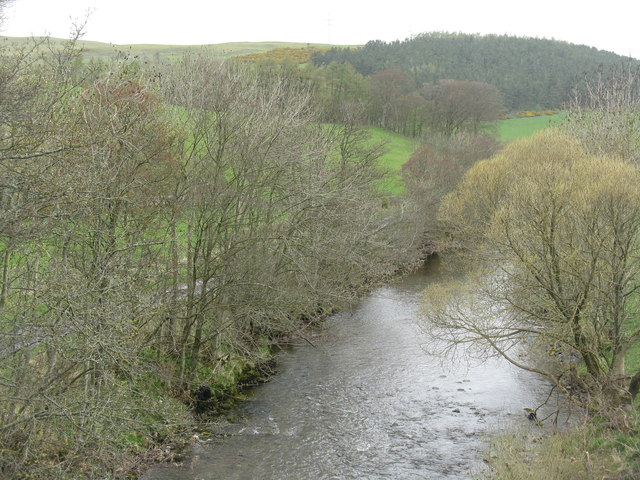 The River Teviot from Branxholm Bridge