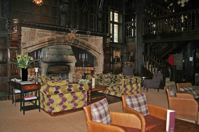 Tudor fireplace, Mitton Hall