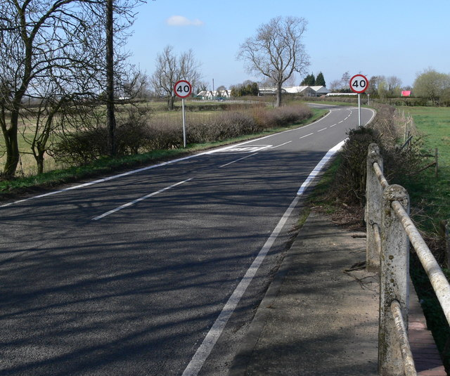 Foston Road towards Countesthorpe
