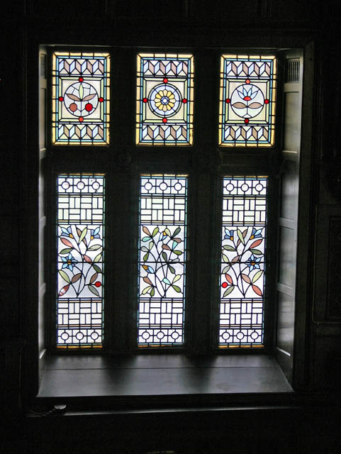 Stained glass window, Mitton Hall