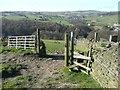 SE0320 : Stile and gate on Ripponden Footpath 55, Soyland by Humphrey Bolton