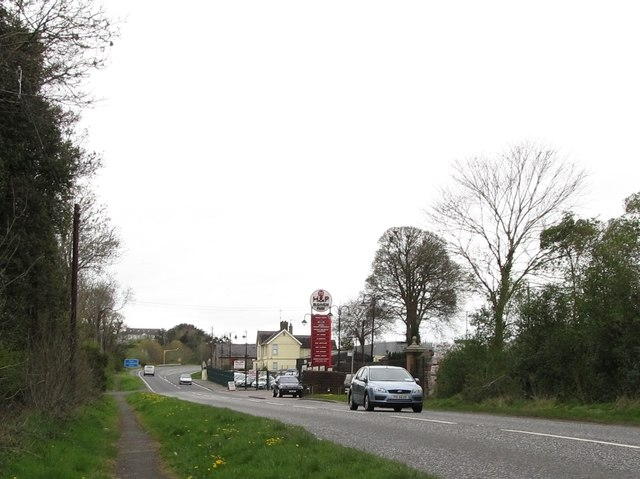 The entrance to the H&P Business Park off the Belfast Road
