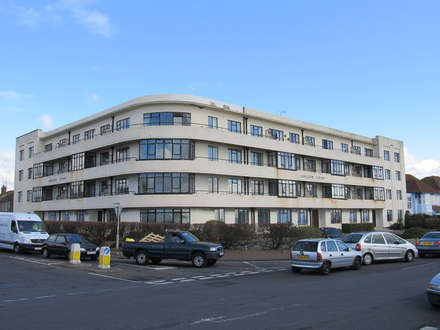 Onslow Court on the sea front at Worthing