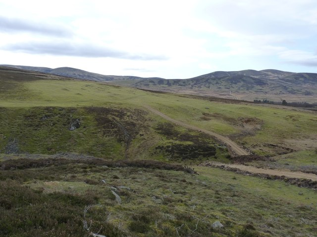 South towards the hills beyond the North Esk